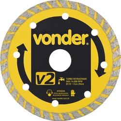 Disco de Corte Diamantado Turbo 4 1/2'' Vonder - 8... - FERTEK FERRAMENTAS