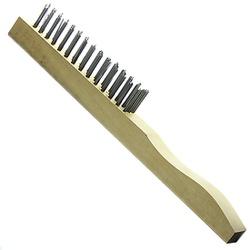 Escova manual de aço 4 fileiras cabo de madeira Ro... - FERTEK FERRAMENTAS