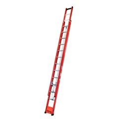 Escada Extensiva Fibra Fechada 4,20 X 7,20 Extensi... - FERTEK FERRAMENTAS