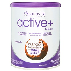 Active+ Best Age Chocolate Whey Zero 400g - 16505 - Fitoflora Produtos Naturais