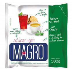 Açúcar Magro Light Com Stévia Refil 500g - 14817 - Fitoflora Produtos Naturais