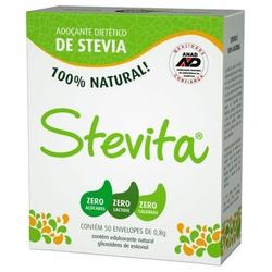 Adoçante Stevita Pó 50 envelopes x 0,8g - 12122 - Fitoflora Produtos Naturais