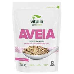 Aveia Sem Glúten com Quinoa e Frutas Vermelhas 200... - Fitoflora Produtos Naturais