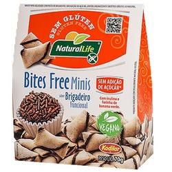 Bites Free Mini Sabor Brigadeiro Veg 70g - 17589 - Fitoflora Produtos Naturais