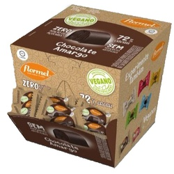 Bombom Chocolate Amargo 73% Cacau Vegano Display 1... - Fitoflora Produtos Naturais