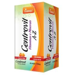 Centrovit Vitaminas e Minerais A-Z 60 caps x 550mg... - Fitoflora Produtos Naturais