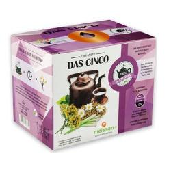 Chá das Cinco Display 15x1,4g - 15669 - Fitoflora Produtos Naturais