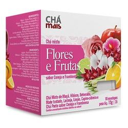 Chá Misto Flores e Frutas Sabor Cereja e Framboesa... - Fitoflora Produtos Naturais