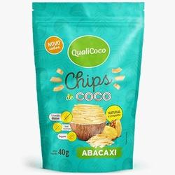 Chips de Coco Sabor Abacaxi 40g - 17946 - Fitoflora Produtos Naturais