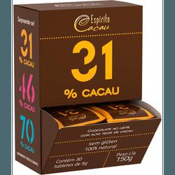 Chocolate ao Leite 31% Cacau Display 30x5g - 16799 - Fitoflora Produtos Naturais