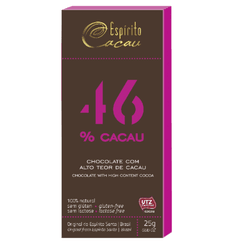 Chocolate 46% Cacau Display 10x25g - 15703 - Fitoflora Produtos Naturais