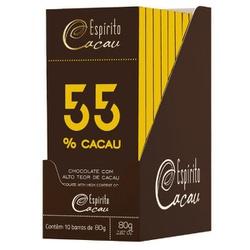 Chocolate 55% Cacau 80g - 15895 - Fitoflora Produtos Naturais
