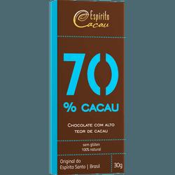 Chocolate 70% Cacau Display 9x30g - 15704 - Fitoflora Produtos Naturais