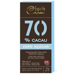 Chocolate 70% Cacau Zero Açúcar Display 10x25g - 1... - Fitoflora Produtos Naturais