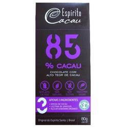Chocolate 85% Cacau 80g - 15896 - Fitoflora Produtos Naturais