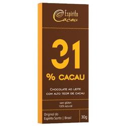 Chocolate ao Leite 31% Cacau Sem Glúten Display 9x... - Fitoflora Produtos Naturais