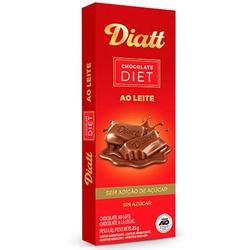 Chocolate ao Leite Diet Display 12 x 25g - 12921 - Fitoflora Produtos Naturais