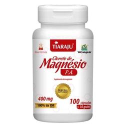 Cloreto de Magnésio P.A. 100 cápsulas x 400mg - 15... - Fitoflora Produtos Naturais