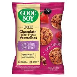 Cookies Chocolate Sabor Frutas Vermelhas Display 1... - Fitoflora Produtos Naturais