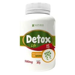 Detox Life Com Spirulina 60 cápsulasx500mg - 13391 - Fitoflora Produtos Naturais