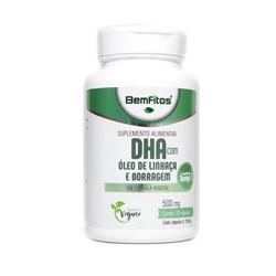 DHA Óleo de Linhaça/Borragem Vegana 30 x 500mg - 1... - Fitoflora Produtos Naturais