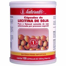 Lecitina de Soja 100 Caps x 1000mg - 4826 - Fitoflora Produtos Naturais