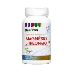 Magnésio L-Treonato Vegano 60 x 400mg - 17299 - Fitoflora Produtos Naturais