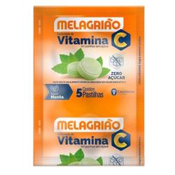 Melagrião Vitamina C Sabor Menta Zero 24 x 5 Pasti... - Fitoflora Produtos Naturais