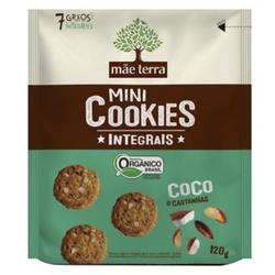 Mini Cookies Integrais Coco e Castanhas Orgânico 1... - Fitoflora Produtos Naturais