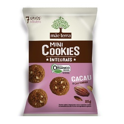 Mini Cookies Integrais Cacau e Castanhas display 7... - Fitoflora Produtos Naturais