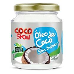 Óleo de Coco Sem Sabor Coco Show Veg 200ml - 17376 - Fitoflora Produtos Naturais