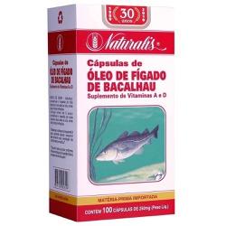 Óleo de Fígado de Bacalhau 100 x 250mg - 4813 - Fitoflora Produtos Naturais