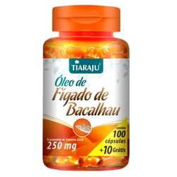 Óleo de Fígado de Bacalhau 100 caps x 250mg - 1447... - Fitoflora Produtos Naturais