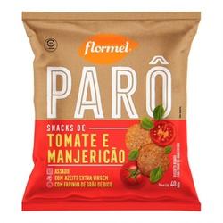 Parô Snack de Tomate e Manjericão 40g - 17761 - Fitoflora Produtos Naturais