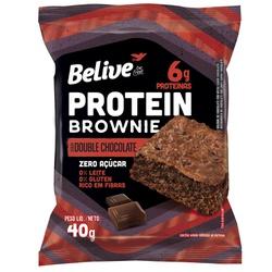 Protein Brownie Double Chocolate Zero Display 10x4... - Fitoflora Produtos Naturais