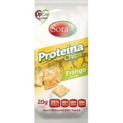 Proteína Chips Sabor Frango com Limão Display 10 x... - Fitoflora Produtos Naturais