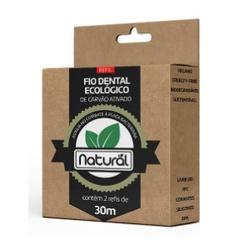 Refil de Fio Dental Ecológico de Carvão Ativado 30... - Fitoflora Produtos Naturais
