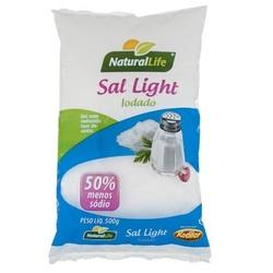 Sal Light Iodado Moído 500g - 16078 - Fitoflora Produtos Naturais