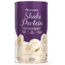 Shake Protein Banana com Chia 450g - 16525 - Fitoflora Produtos Naturais