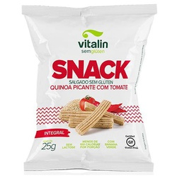 Snack Salgado Quinoa Picante com Tomate display 12... - Fitoflora Produtos Naturais