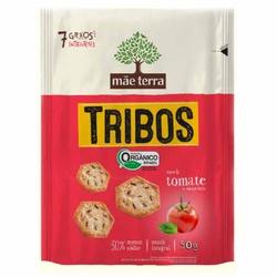 Biscoito Tribos Orgânico Tomate e Manjericão 50g -... - Fitoflora Produtos Naturais