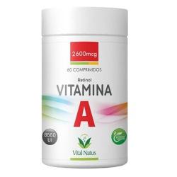 Vitamina A Retinol 60comp x 2600mcg - 11326 - Fitoflora Produtos Naturais