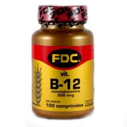 Vitamina B12 Cianocobalamina 100 x 500mcg - 17413 - Fitoflora Produtos Naturais