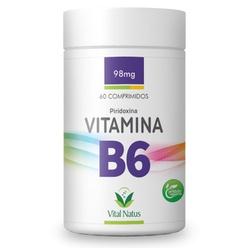 Vitamina B6 Piridroxina 60comp x 1,3mg - 12014 - Fitoflora Produtos Naturais