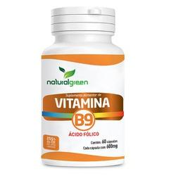 Vitamina B9 60 x 500mg - 17422 - Fitoflora Produtos Naturais