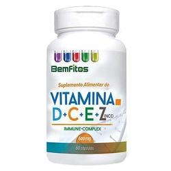 Vitamina D, C, E e Zinco 60 cápsulas x 600mg - 175... - Fitoflora Produtos Naturais