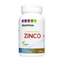 Zinco Vegano 60 x 500mg - 17015 - Fitoflora Produtos Naturais