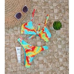 Conjunto Nozinho 4 Em 1 Tie Dye Texturizado - 600 - Flor Do Rio
