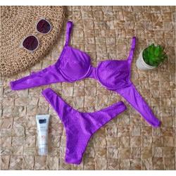 Conjunto Bahamas Violeta ( Canelado) - 1003 - Flor Do Rio