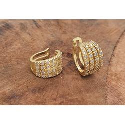 Piercing fake folheado a ouro com zirconia - 4013 - FloriPratas